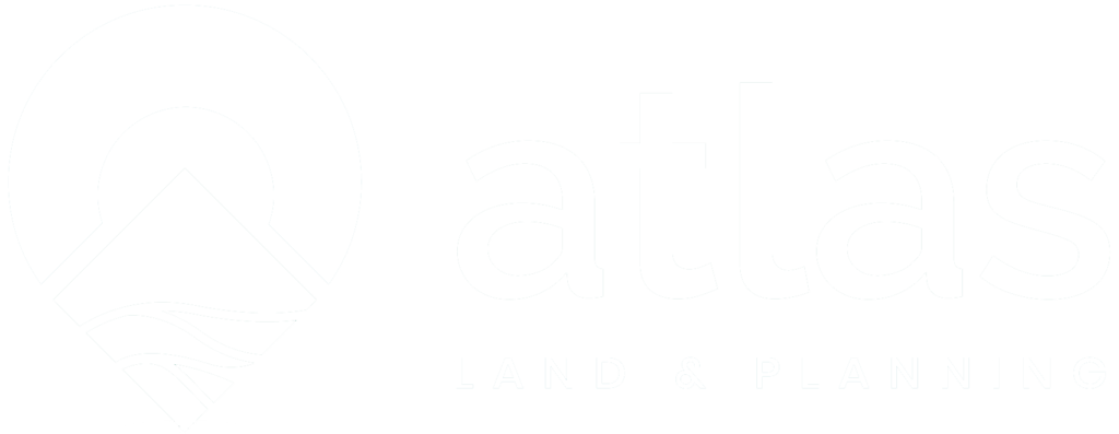 Atlas Land & Planning Whiteout Logo